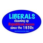 cleaning up Oval Sticker