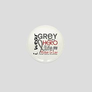Hero in Life 2 Brain Cancer Mini Button