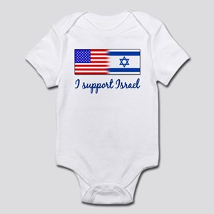 I Support Israel Infant Creeper