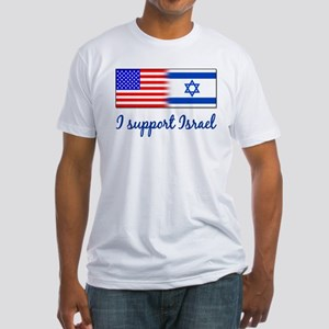 I Support Israel Fitted T-Shirt