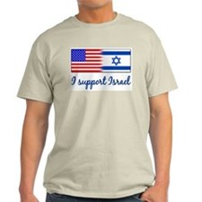 I Support Israel Ash Grey T-Shirt
