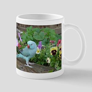 Indian Ringneck in the Garden Mug
