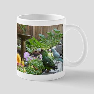 Parrots in the Garden Mug