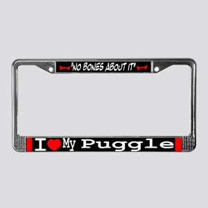 Puggle Gifts License Plate Frame