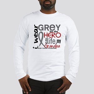 Hero in Life 2 Brain Cancer Long Sleeve T-Shirt