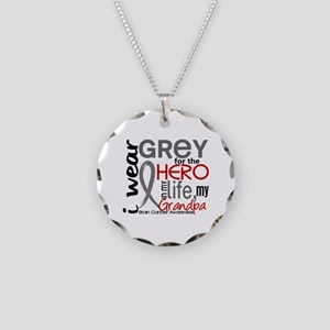 Hero in Life 2 Brain Cancer Necklace Circle Charm