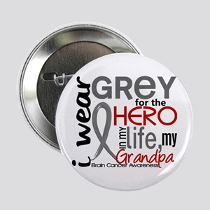"Hero in Life 2 Brain Cancer 2.25"" Button"
