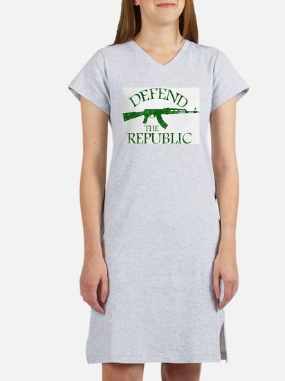 DEFEND THE REPUBLIC (green ink) Women's Nightshirt
