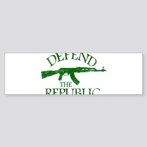 DEFEND THE REPUBLIC (green ink) Sticker (Bumper)