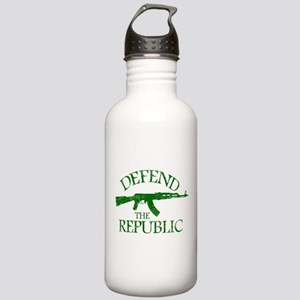 DEFEND THE REPUBLIC (green ink) Stainless Water Bo