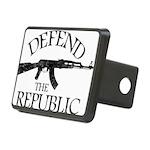 DEFEND THE REPUBLIC (black ink) Rectangular Hitch