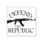 DEFEND THE REPUBLIC (black ink) Square Sticker 3