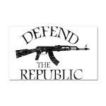 DEFEND THE REPUBLIC (black ink) Car Magnet 20 x 12
