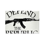 DEFEND THE REPUBLIC (black ink) Rectangle Magnet (