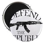 DEFEND THE REPUBLIC (black ink) Magnet