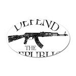DEFEND THE REPUBLIC (black ink) 20x12 Oval Wall De