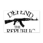 DEFEND THE REPUBLIC (black ink) 20x12 Wall Decal