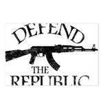 DEFEND THE REPUBLIC (black ink) Postcards (Package