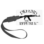 DEFEND THE REPUBLIC (black ink) Large Luggage Tag
