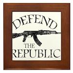 DEFEND THE REPUBLIC (black ink) Framed Tile