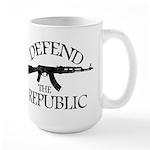 DEFEND THE REPUBLIC (black ink) Large Mug