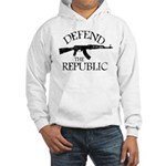 DEFEND THE REPUBLIC (black ink) Hooded Sweatshirt