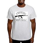 DEFEND THE REPUBLIC (black ink) Light T-Shirt