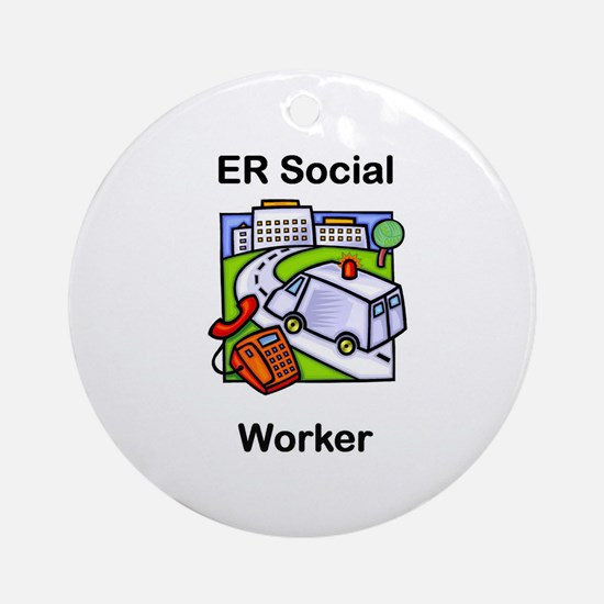 ER Social Worker Ornament (Round)
