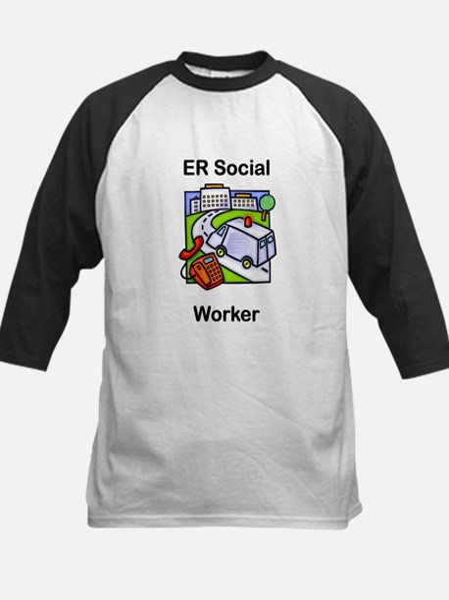 ER Social Worker Kids Baseball Jersey