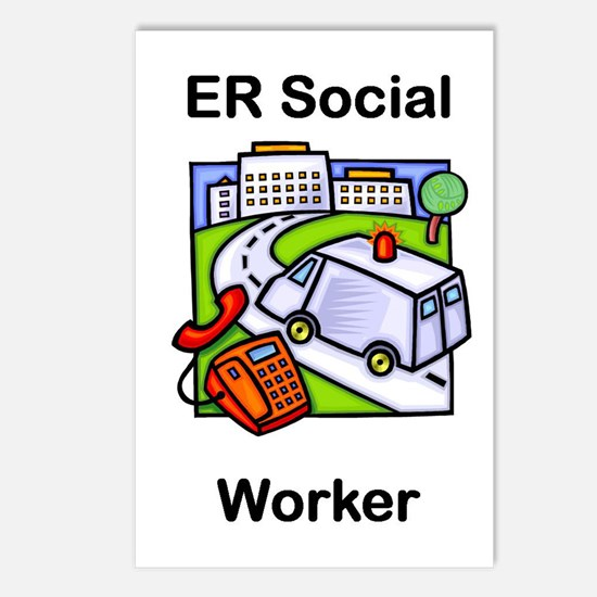 ER Social Worker Postcards (Package of 8)