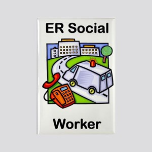 ER Social Worker Rectangle Magnet