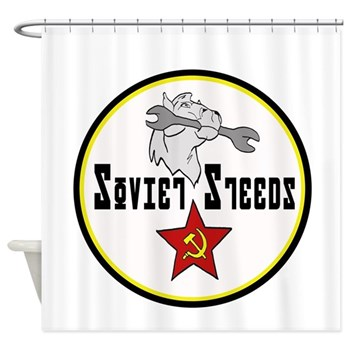 Soviet Steeds Shower Curtain
