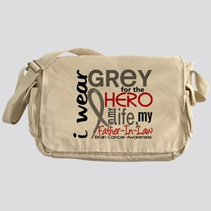 Hero in Life 2 Brain Cancer Messenger Bag