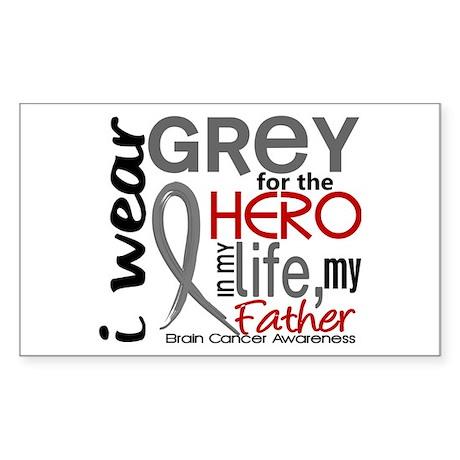 Hero in Life 2 Brain Cancer Sticker (Rectangle)