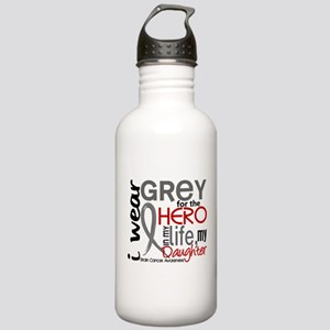 Hero in Life 2 Brain Cancer Stainless Water Bottle