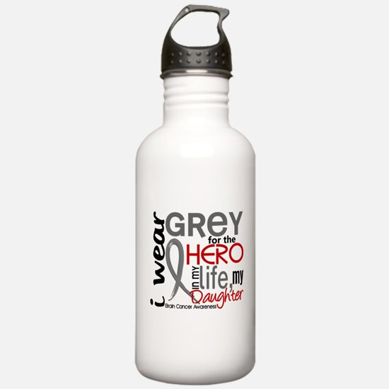 Hero in Life 2 Brain Cancer Water Bottle