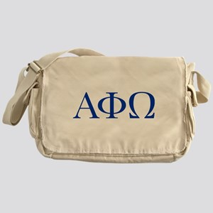 Alpha Phi Omega Letters Blue Messenger Bag