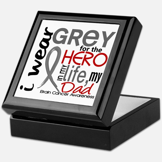 Hero in Life 2 Brain Cancer Keepsake Box