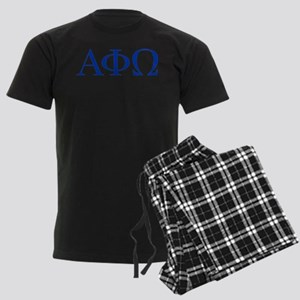 Alpha Phi Omega Letters Blue Men's Dark Pajamas