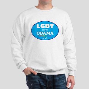 LGBT loves OBAMA Sweatshirt