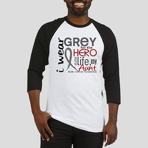 Hero in Life 2 Brain Cancer Baseball Jersey