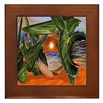 Crystal Orange Framed Tile