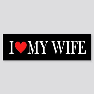 I Heart My Wife: Sticker (Bumper)
