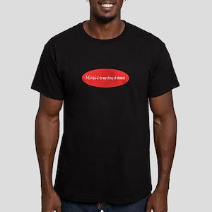 musicismydrugpink4x4 Men's Fitted T-Shirt (dar