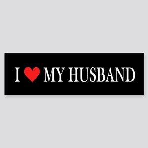 I Heart My Husband Sticker (Bumper)