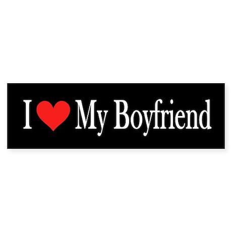 I Love My Boyfriend: Sticker (Bumper)