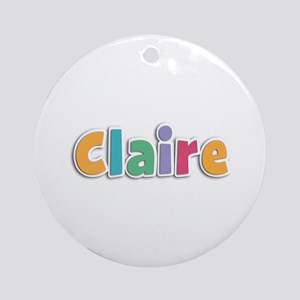 Claire Spring11 Round Ornament