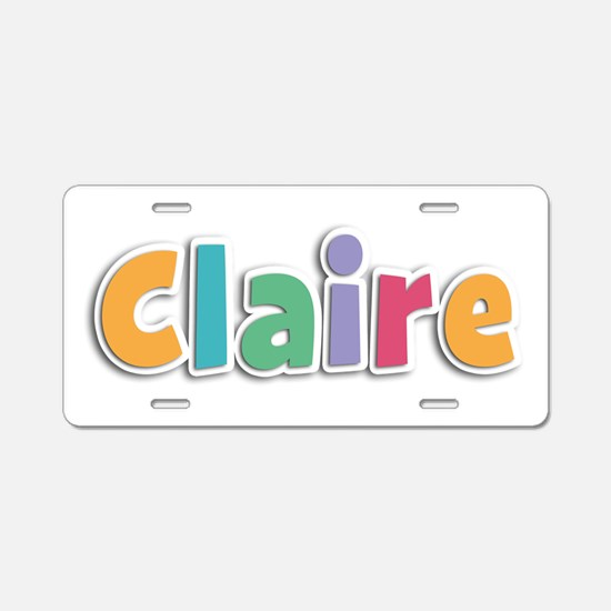Claire Spring11 Aluminum License Plate