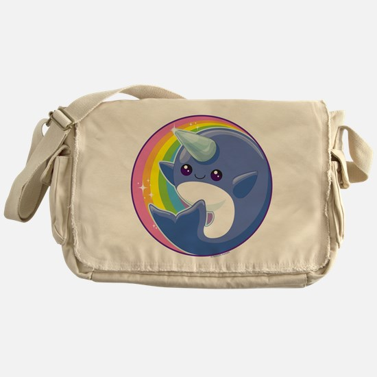 Kawaii Narwhal Messenger Bag