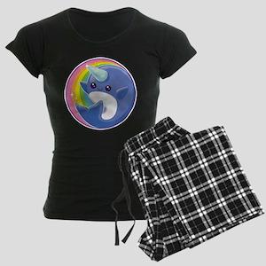 Kawaii Narwhal Women's Dark Pajamas